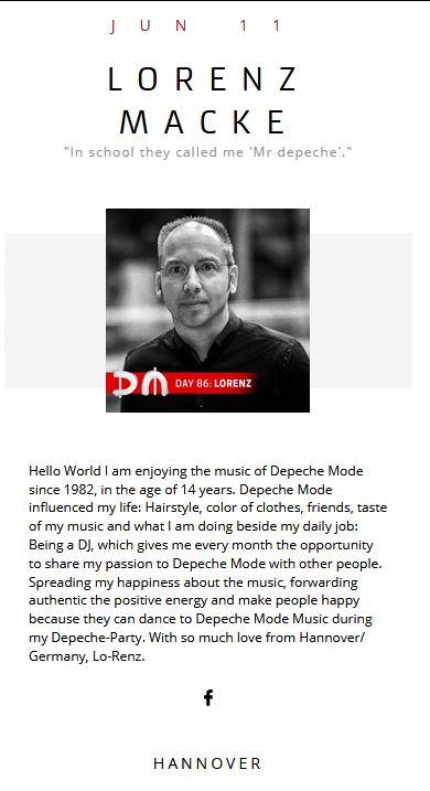 Depeche Mode Takeover Lorenz